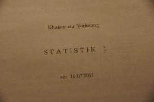 """""""Statstik I""""-Klausur"""